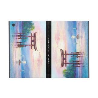 Satta Miyajima Torii and Sailboats japanese art Covers For iPad Mini