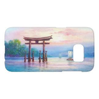 Satta Miyajima Torii and Sailboats japanese art Samsung Galaxy S7 Case