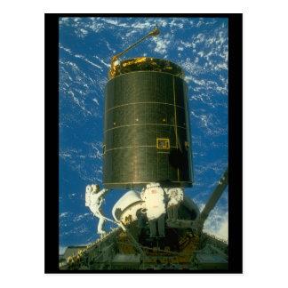 Sattelite in space._Space Postcard