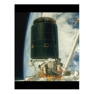 Sattelite. (satellite;earth_Space Postcard