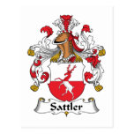 Sattler Family Crest Postcard