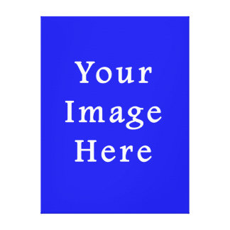 Saturated Blue Hanukkah Chanukah Hanukah Template Gallery Wrapped Canvas