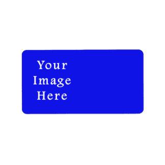 Saturated Blue Hanukkah Chanukah Hanukah Template Label