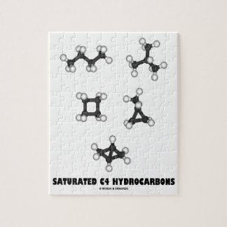 Saturated C4 Hydrocarbons (Oil Chemical Molecules) Jigsaw Puzzle