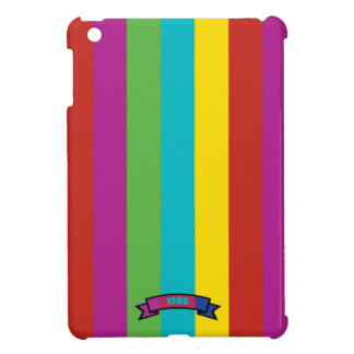 Saturated Color Stripe Pattern iPad Mini Case