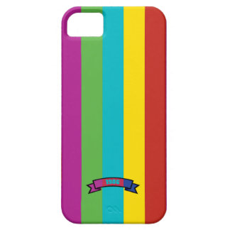 Saturated Color Stripe Pattern iPhone 5 Case