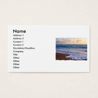 Saturated Florida beach at sunrise Business Card