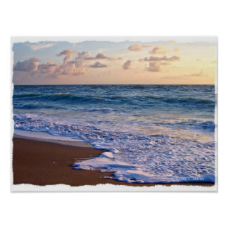 Saturated Florida beach at sunrise Poster