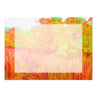 Saturated grass tree florida background personalized announcements