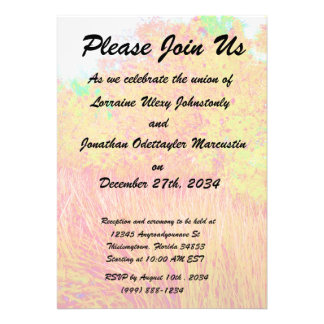 Saturated grass tree florida background personalized invitation