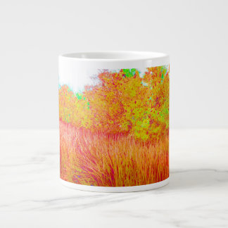 Saturated grass tree florida background large coffee mug