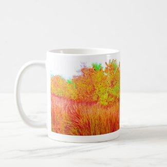 Saturated grass tree florida background mug