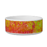 Saturated grass tree florida background pet food bowls