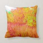 Saturated grass tree florida background pillow