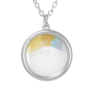 Saturated Stripes watercolor Custom Necklace