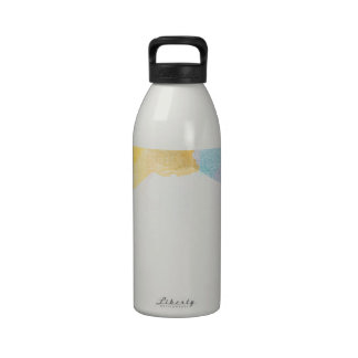 Saturated Stripes watercolor Drinking Bottle