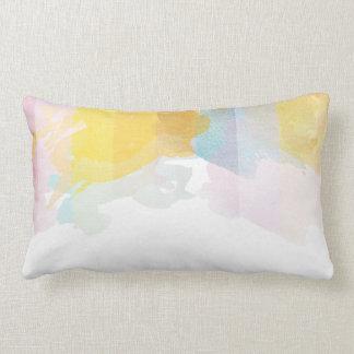 Saturated Stripes watercolor Lumbar Pillow