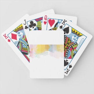 Saturated Stripes watercolor Poker Deck