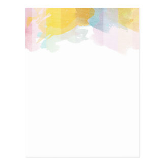 Saturated Stripes watercolor Postcards
