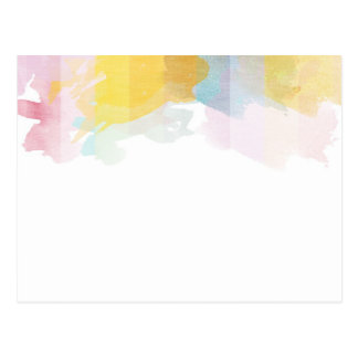 Saturated Stripes watercolor Postcard