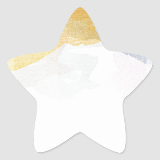Saturated Stripes watercolor Star Sticker
