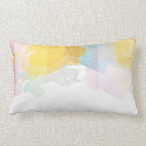 Saturated Stripes watercolor Throw Pillow