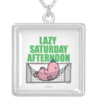 Saturday Afternoon With Mr. Lazy Silver Plated Necklace