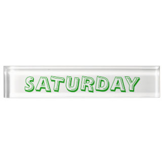 Saturday Alphabet Soup Font Paperweight by Janz Nameplate