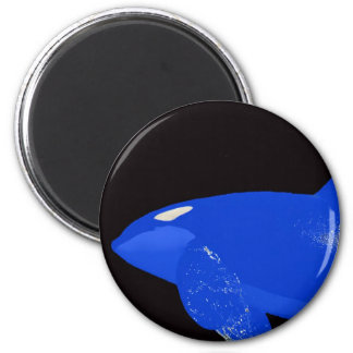 Saturday Blue Orca 2 Inch Round Magnet