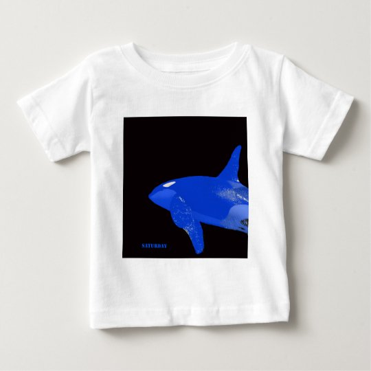 Saturday Blue Orca Baby T-Shirt