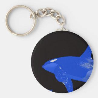 Saturday Blue Orca Keychain
