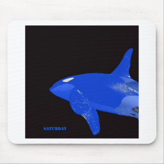 Saturday Blue Orca Mouse Pad