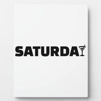 Saturday cocktail display plaques