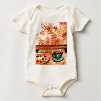 """Saturday Coffee"" - CricketDiane Designer Stuff Baby Bodysuit"