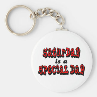 Saturday is a Special Day Basic Round Button Keychain