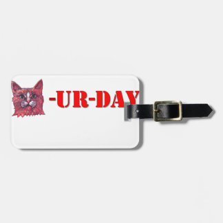 Saturday is Caturday Luggage Tag