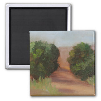 Saturday Morning Hike 2 Inch Square Magnet