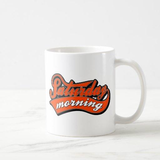 Saturday Morning in red Coffee Mugs