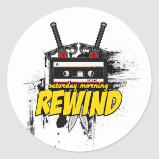 Saturday Morning Rewind: Cartoon Podcast Sticker