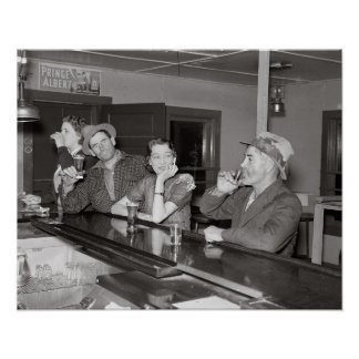 Saturday Night at the Saloon, 1937. Vintage Photo Poster