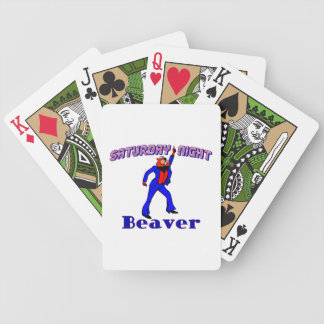 Saturday Night Disco Beaver Bicycle Playing Cards