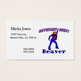 Saturday Night Disco Beaver Business Card