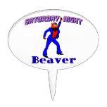 Saturday Night Disco Beaver Cake Pick