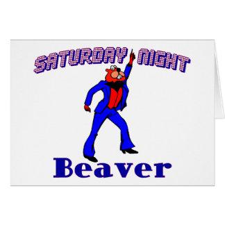 Saturday Night Disco Beaver Card