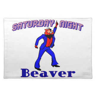 Saturday Night Disco Beaver Cloth Placemat
