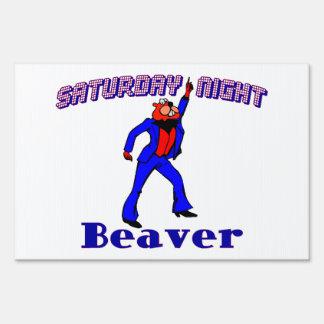 Saturday Night Disco Beaver Lawn Sign