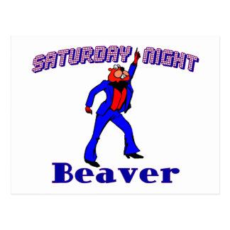 Saturday Night Disco Beaver Postcard