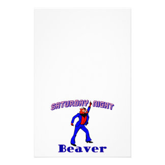 Saturday Night Disco Beaver Stationery