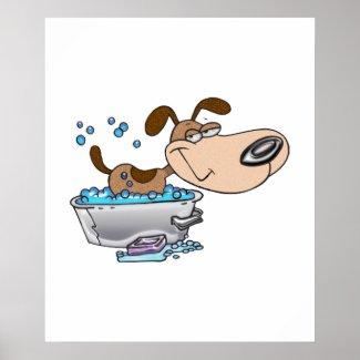 Saturday Night Dog Bath Poster