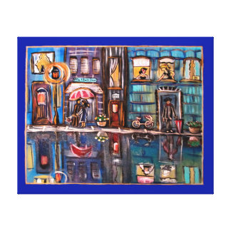 Saturday Night in the City-Wall Print